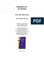 The Little Blue Book -- Quotations of W. Edwards Deming 11 Pages