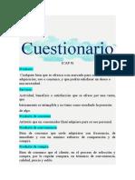 Cuestionario MERCADOTECNIA