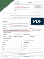 Passport Application Form