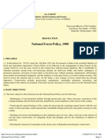 National Forest Policy, 1988