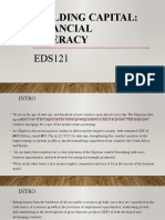EDS121 Building Capital- Financial Literacy