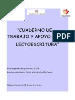 CUADERNO DE TRABAJO Y APOYO A LA LECTOESCRITURA