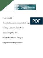 Actividad 2. Modelos Del Comportamiento Organizacional
