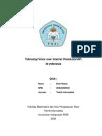 Makalah Jaringan Komputer - Teknologi Voice Over Internet Protokol (VoIP)