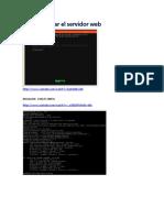 Cómo instalar el servidor web