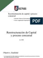 Sociedades Reestructuración proceso concursal Legislación