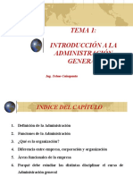 INTRODUCCIÓN A LA ADMINISTRACIÓN GENERAL gerentes, niveles jerarquicos