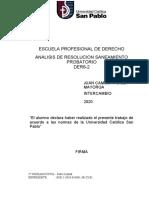 ANALISIS RESOLUCION SANEAMIENTO PROBATORIO.docx