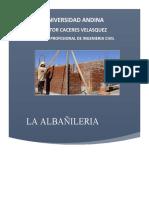 CONCEPTOS DE ALBAÑILERIA trabajo