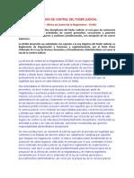 ORGANOS DE CONTROL DEL PODER JUDICIAL PERU