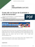 Artigo - Quais são os Gurus da Qualidade e suas ferramentas_