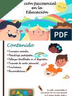 Cartilla de acción psicosocial en la  educación