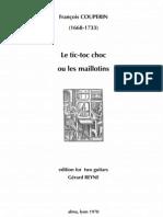 COUPERIN, F. • Le tic-toc choc ou les maillotins (edited by Gérard Reyne) (2 guitars music score)