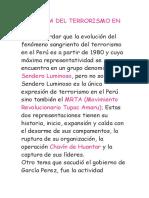 HISTORIA DEL TERRORISMO EN PERÚ