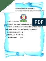 PLANIFICACIÓN DE LAS ACTIVIDADES COMPLEMENTARIAS A APRENDO EN CASA