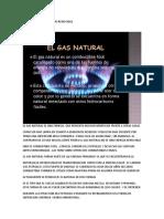 EL GAS COMO ENERGIA    NO RENOVABLE