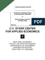 Gali New Keynesian Monetary Policy