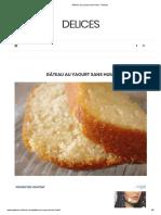 Gâteau au yaourt sans huile - Delices