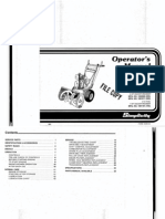 Simplicty Snow Blower Owners Manual