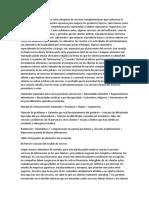 Implicaciones gerenciales Las ocho categorías de servicios complementarios que conforman l1