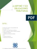 """Evidencia 9 Ejercicio práctico """"La Mipyme y sus obligaciones tributarias"""""""