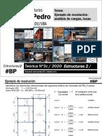 T3c-cat. pedro- Estructuras 2-2019-Ejemplo de resolución análisis de cargas, losa