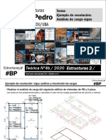 T4b-cat. pedro- Estructuras 2-2019-Ejemplo de resolución análisis de cargas vigas