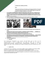 """TALLER """"CONFLICTOS Y FIN DE LA GUERRA FRIA"""" HISTORIA. NOVENO"""