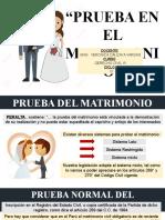 PRUEBA EN EL MATRIMONIO