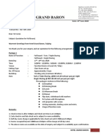 HIGH BARON HOTEL- QUOTATION FULLBOARD ( MR ASRUL, 17-19 JULY 2020 )