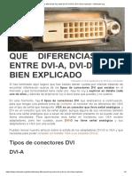 Que diferencias hay entre DVI-A, DVI-D y DVI-I bien explicado - VicHaunter.org