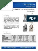 756609_CAC-107-PRE Prensa Hidraulica para Manteca de Cacao