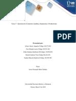 Trabajo colaborativo Tarea 7  ejercicios de Geometría Analítica, Sumatorias y Productorias..