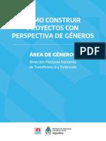 CÓMO CONSTRUIR PROYECTOS CON PERSPECTIVA DE GÉNEROS
