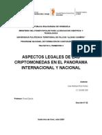 ASPECTOS LEGALES DE LAS CRIPTOMONEDAS EN EL PANORAMA INTERNACIONAL Y NACIONAL