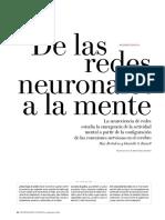 De las redes neuronales a la Mente-IyC2019