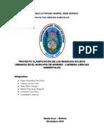 Propuesta de Manejo de Residuos Solidos en Warnes, Santa Cruz, Bolivia