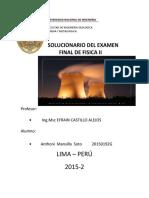 Solucionario E.Final-Fisica II - Castillo
