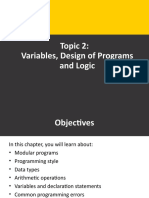 Week 2 - Variables, Design of Programs and Logic Part 1.ppt