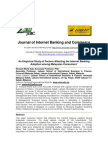 An Empirical Study of Factors Affecting the Internet Banking