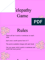 Telepathy Game Template