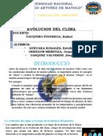 evolucion del clima