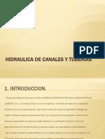 Hidraulica de Canales y Tuberias