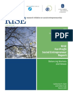 For Profit Social Entrepreneurs Report RISE