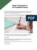 Become Confident Essay Writer