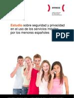 Estudio sobre seguridad y privacidad en el uso de los servicios móviles por los menores españoles - INTECO