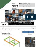 T4a-cat. pedro- Estructuras 2-2019-Análisis de carga de los elementos lineales que salvan luces