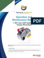 PH Hydraulic Torque Wrench Instruction Manual