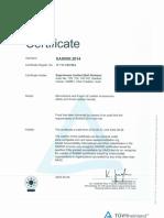 SA8000 certificate - Belt Div