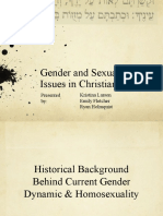 Gender and Sexuality Issues in Christian Beliefs